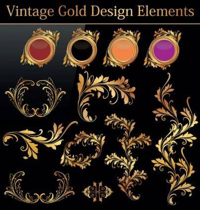 free vector European gold pattern 01 vector