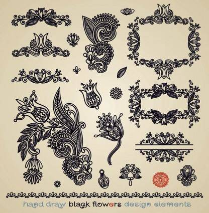 Papercut style of classical pattern vector 4