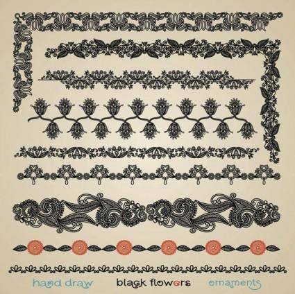 Papercut style of classical pattern vector 5
