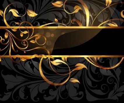 free vector 1 gold pattern vector