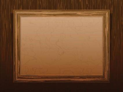 Classic wood frame 02 vector