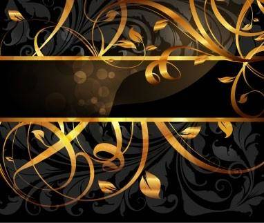 5 gold pattern vector
