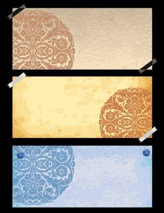 free vector Classical pattern vector with the old paper 1