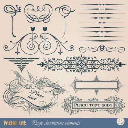 free vector Classic european pattern 03 vector