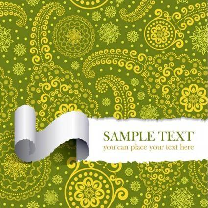 Tear the paper pattern vector 2