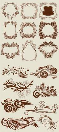 Classic lace pattern vector
