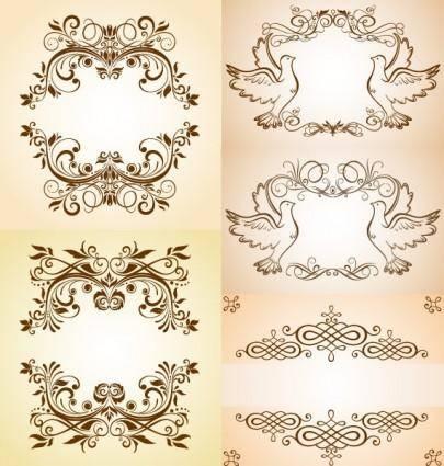 free vector Beautiful pattern vector