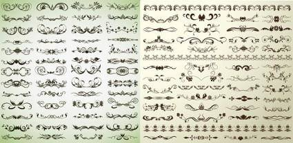 free vector Variety of stylish lace pattern vector