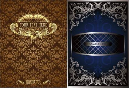 free vector 2 gorgeous european classical pattern vector