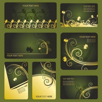 Patterns card template vector