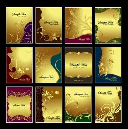 free vector Gold pattern vector subject