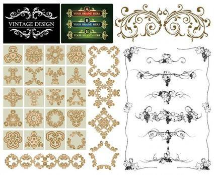 Practical lace pattern vector