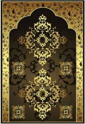 free vector European gold pattern vector