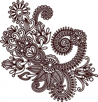 Handdrawn patterns 05 vector