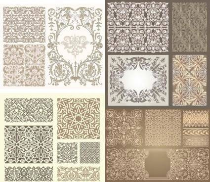 free vector Kinds of pattern vector