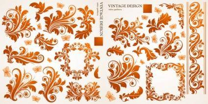 free vector Beautiful european butterfly pattern vector