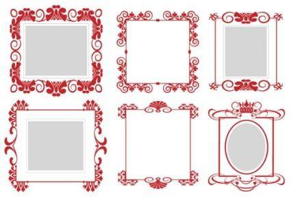 Pattern frame 01 vector