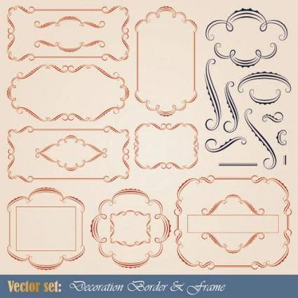 free vector European patterns graphics 02 vector