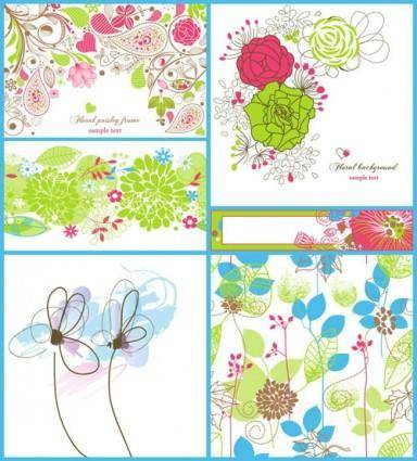 free vector Handpainted pattern 01 vector