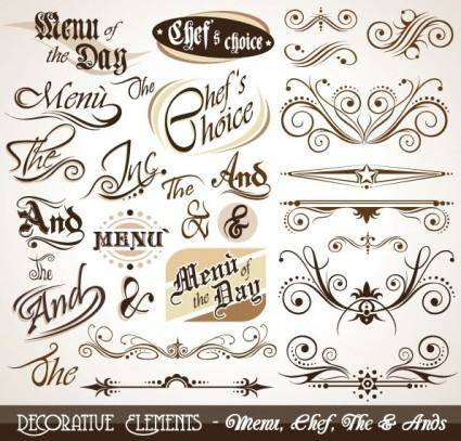 free vector European pattern elements 01 vector