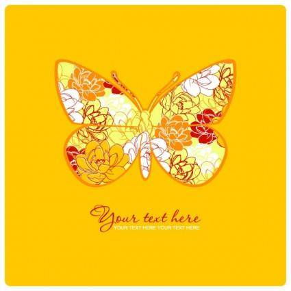 Butterfly pattern 05 vector