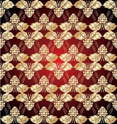 Gold shading pattern 01 vector