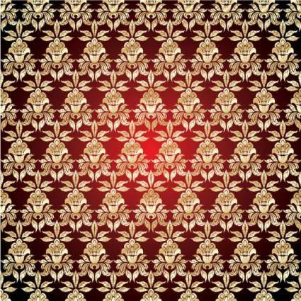 Gold pattern shading 02 vector