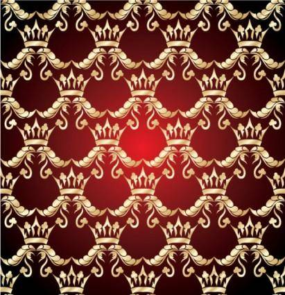Gold pattern shading 03 vector