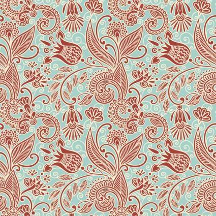 Beautiful handpainted pattern vector 1