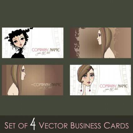 free vector Illustration card template 03 vector