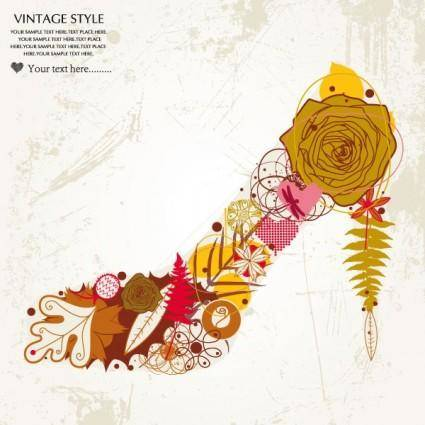 Patterns pattern fashion high heels 01 vector