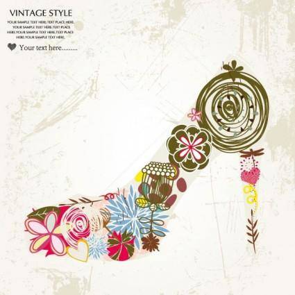 Fashion high heels pattern patterns 02 vector