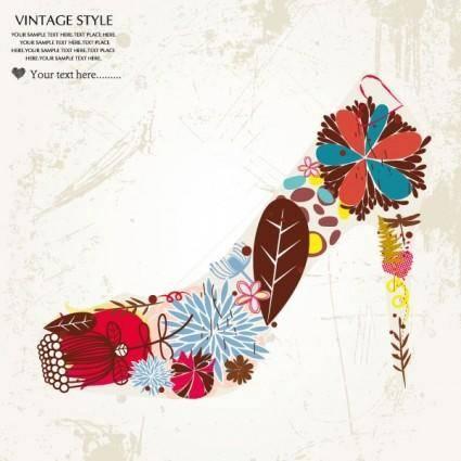 free vector Fashion high heels pattern patterns 03 vector