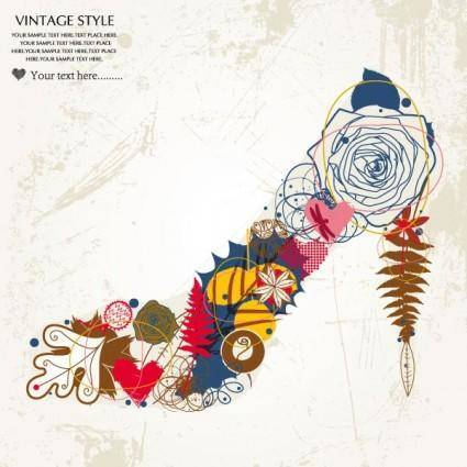 free vector Fashion high heels pattern patterns 04 vector