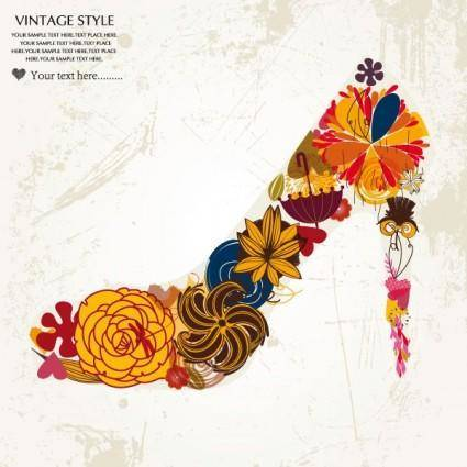 free vector Fashion high heels pattern patterns 05 vector