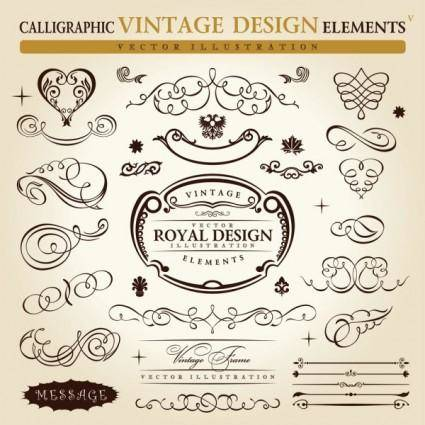 free vector Europeanstyle lace pattern elements 01 vector