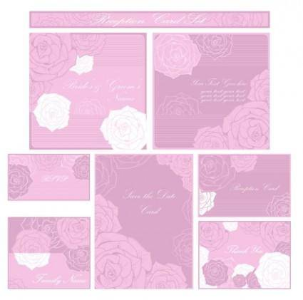 Beautiful pattern card 04 vector