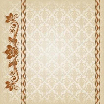 free vector Classic lace pattern 04 vector