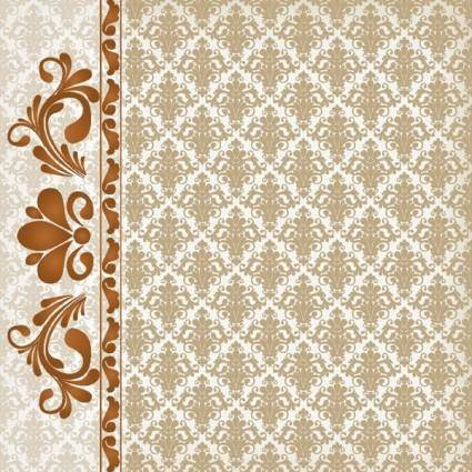 Classic lace pattern 05 vector