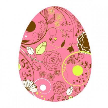 free vector Elegant pattern eggs 03 vector