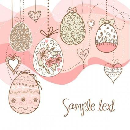 free vector Elegant pattern eggs 04 vector