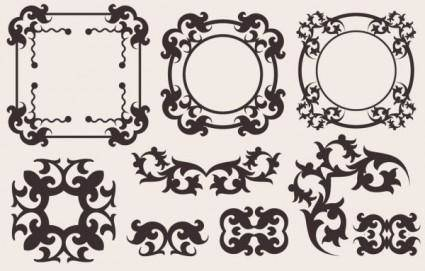 free vector Classic european pattern 10 vector