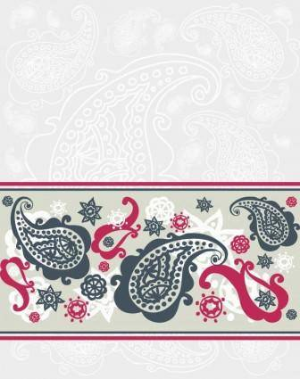 free vector Exquisite indian ham pattern 04 vector
