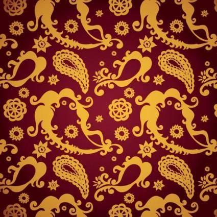 free vector Exquisite indian ham pattern 05 vector