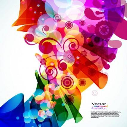 free vector Brilliant colorful loop pattern 02 vector