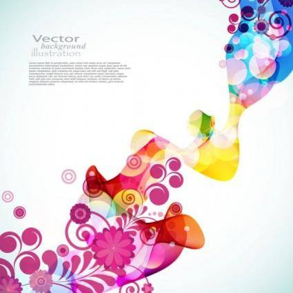 free vector Brilliant colorful loop pattern 03 vector