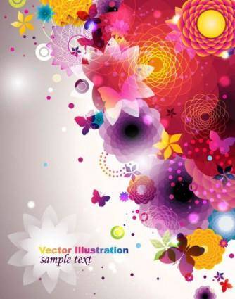 free vector Colorful fashion pattern 04 vector