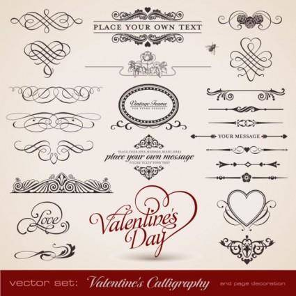 free vector Delicate lace pattern elements vector