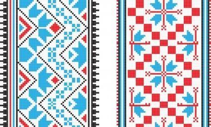 free vector Pixel pattern 01 vector