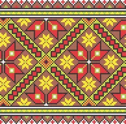 free vector Pixel pattern 03 vector